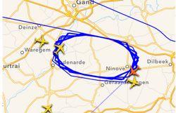 un avion us airways contraint de tourner au dessus de l 39 aeroport de zaventem