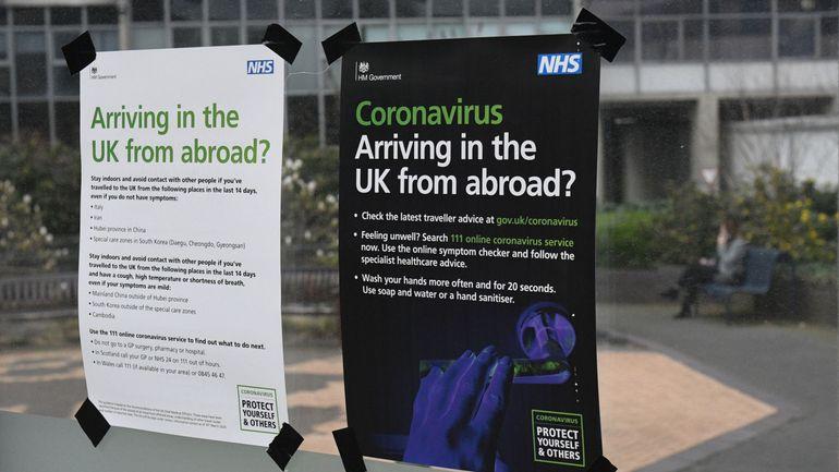 Coronavirus : le Royaume-Uni va imposer une quarantaine de 14 jours pour entrer dans le pays