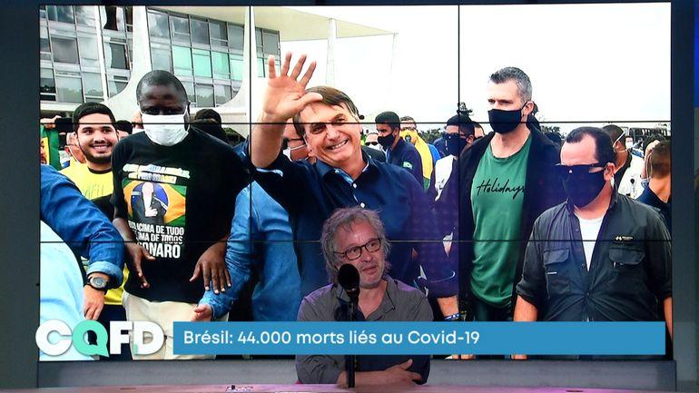 """Près de 44 000 morts au Brésil: """"ce bilan pourrait doubler le mois prochain"""""""