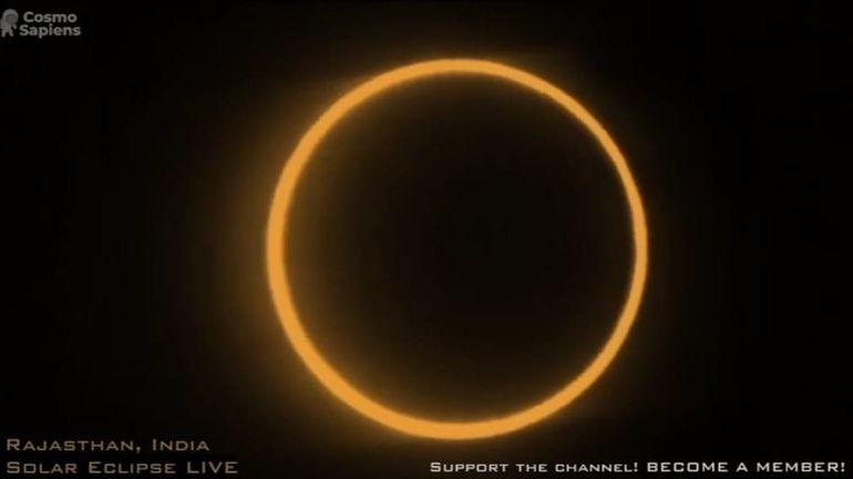 Éclipse annulaire: les images de la Lune masquant quasiment tout le disque solaire (direct)