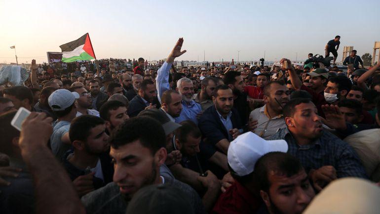 """Violences à gaza: Manifestation d'Arabes israéliens contre la """"guerre contre Gaza"""""""