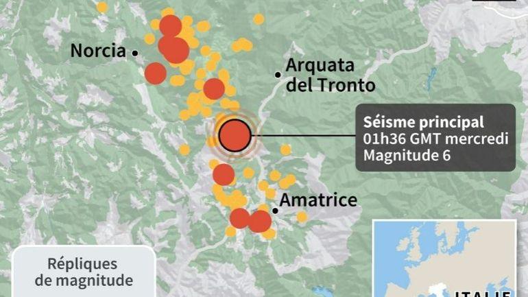 Italie: Amatrice, village meurtri, coupé en deux après le séisme