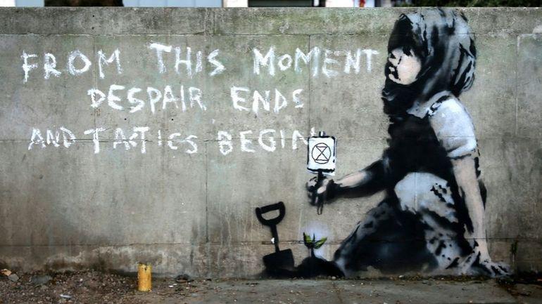 Banksy engagé pour la planète? À Londres, une nouvelle oeuvre lui est attribuée