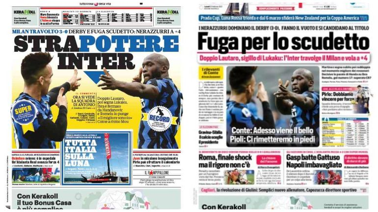La presse italienne encense l?Inter après sa victoire contre l?AC Milan
