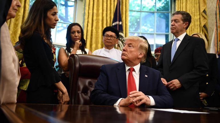 """""""Vous avez eu le prix Nobel?"""": quand Trump rencontre la Yazidie Nadia Murad, c'est surréaliste"""