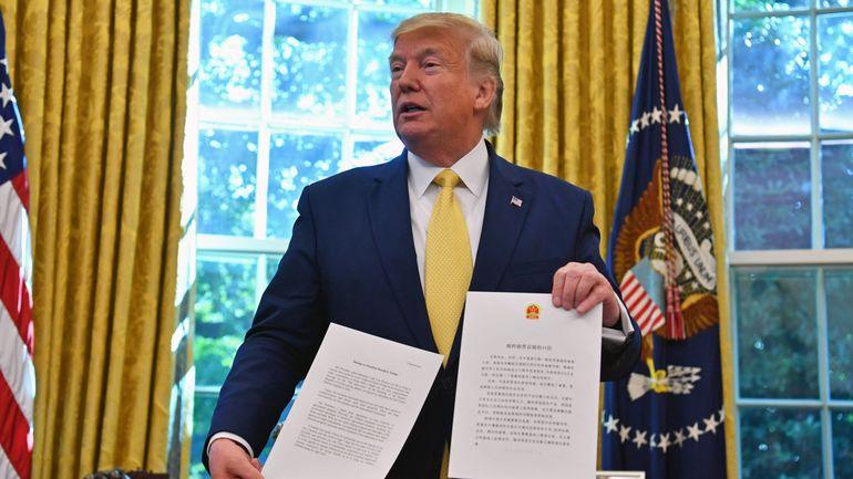 """Guerre commerciale : DonaldTrump annonce un accord partiel """"très important"""" avec la Chine"""