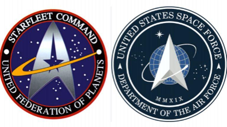 """Trump révèle le logo de la force spatiale et il ressemble très fort à celui de la série """"Star Trek"""""""