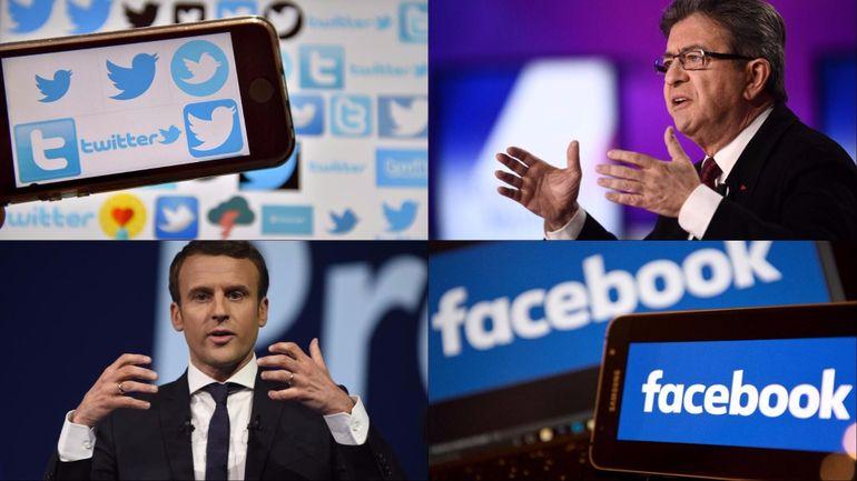 Présidentielles françaises: Mélenchon et Macron font la course en tête sur le Web