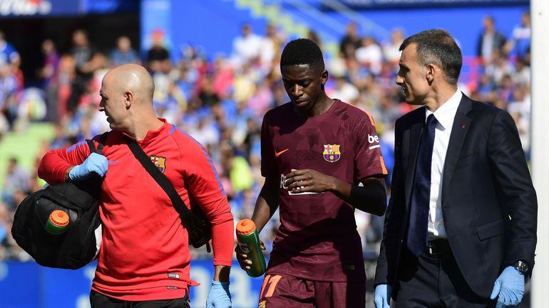 RTBF, Courage Ousmane, disent les joueurs du Barça à Dembélé
