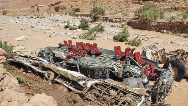 Inondations au Maroc: au moins 17 morts dans un accident de bus