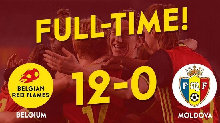 RTBF, Les Red Flames s'éclatent face à la Moldavie et s'offrent un record