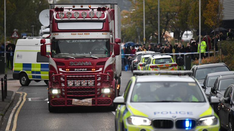 39 corps dans un camion: le conteneur était passé par Zeebruges le 22octobre
