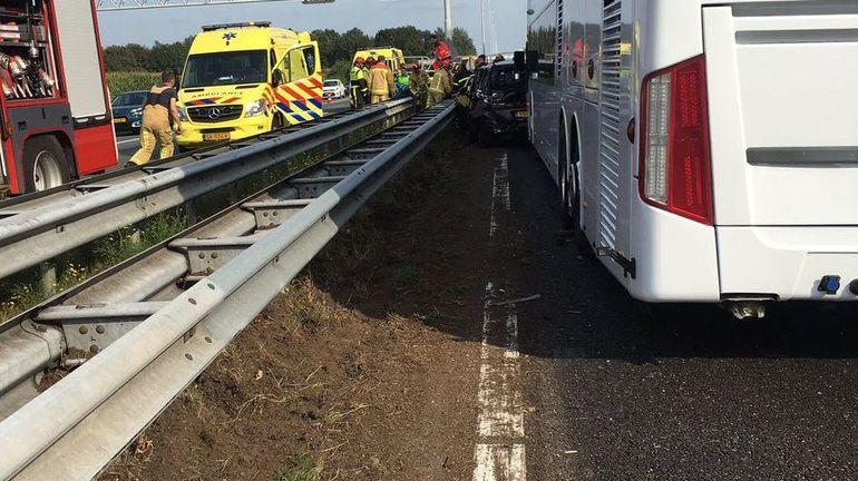 Car belge impliqué dans un accident aux Pays-Bas: pas de blessés graves