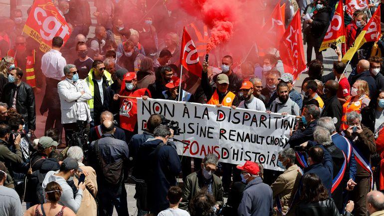 France : manifestation pour sauver l'usine Renault de Choisy-le-Roi, promise à la fermeture