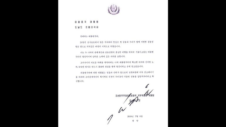 Donald Trump publie une lettre de Kim Jong Un et marque sa confiance sur le dossier nord-coréen