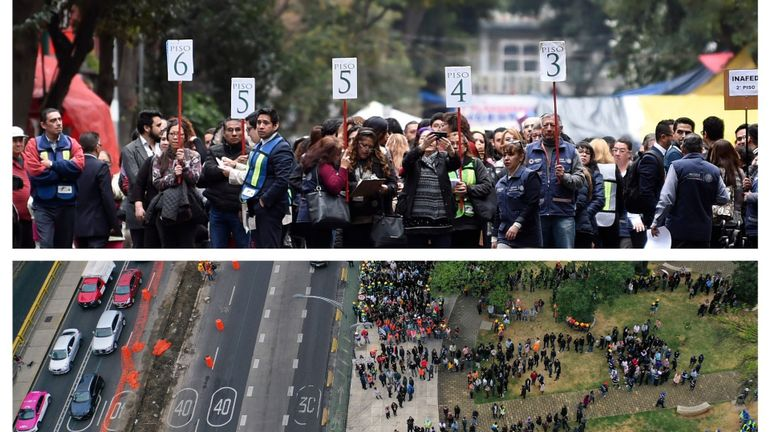 Le Mexique simule un énorme tremblement de terre: des millions d'habitants procèdent à l'exercice