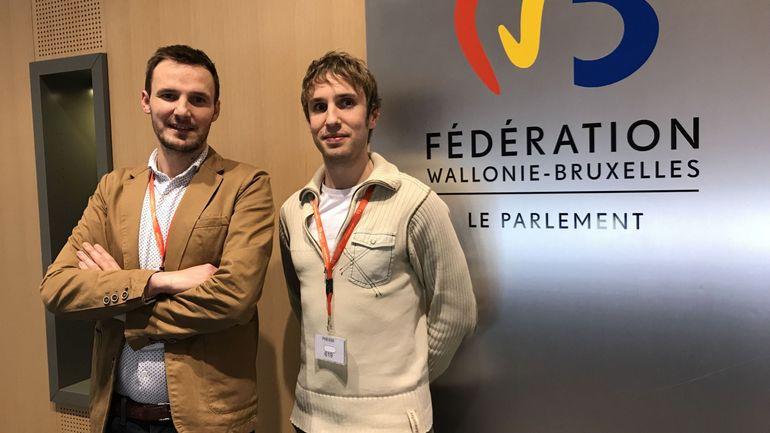 Parlement de la Fédération Wallonie-Bruxelles: Jérôme Durant, Julien Bader et Alan Marchal, lauréats du prix du journalisme 2017