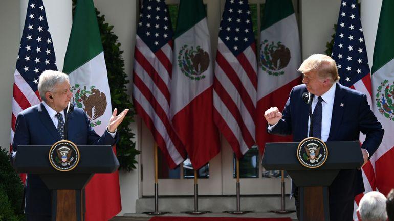 """Trump loue la """"force"""" des liens entre Etats-Unis et Mexique"""