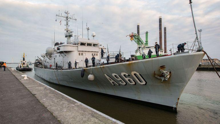 Le Godetia quitte Zeebruges dimanche en tant que navire-amiral pour l'OTAN