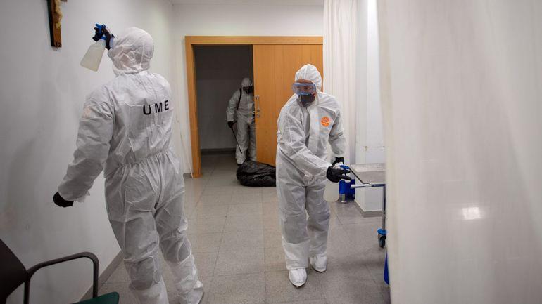 Coronavirus: plus de 800 morts en 24 heures en Espagne, nouveau record