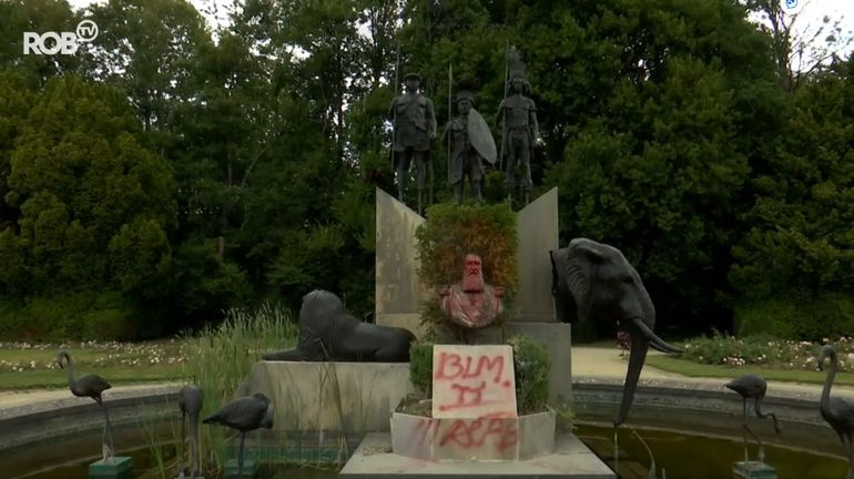 Colonialisme : la statue de Léopold II dégradée pour la deuxième fois au Musée de l'Afrique à Tervuren