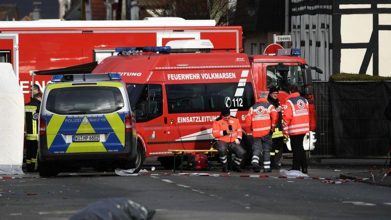 Irruption d'une voiture dans un carnaval en Allemagne: le nombre de blessés monte à 60