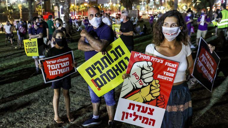 Coronavirus en Israël : des milliers de manifestants anti-Netanyahu de nouveau dans la rue