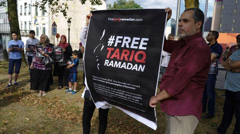 Manifestation au consulat de France à Bruxelles pour la libération de Tariq Ramadan