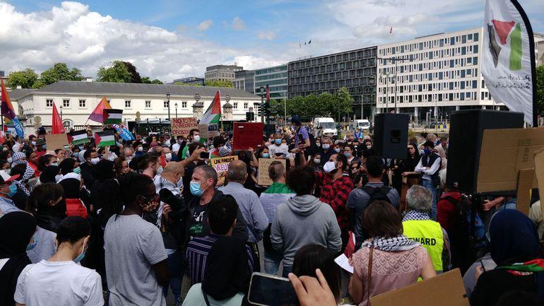 Bruxelles : environ 500 personnes manifestent contre l'annexion de territoires palestiniens
