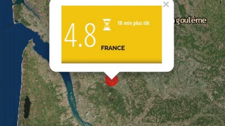 """France: séisme de magnitude 4,9 dans le Sud-Ouest, """"aucun dégât significatif"""""""