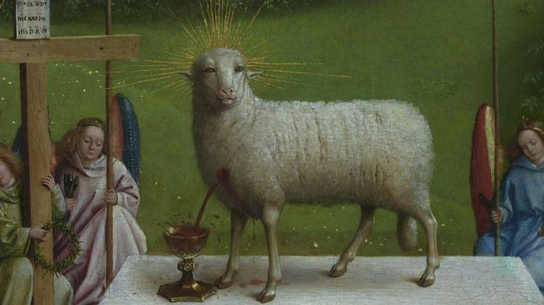 Il a perdu deux oreilles mais gagné en éclat, l'Agneau des Van Eyck retrouve son mysticisme