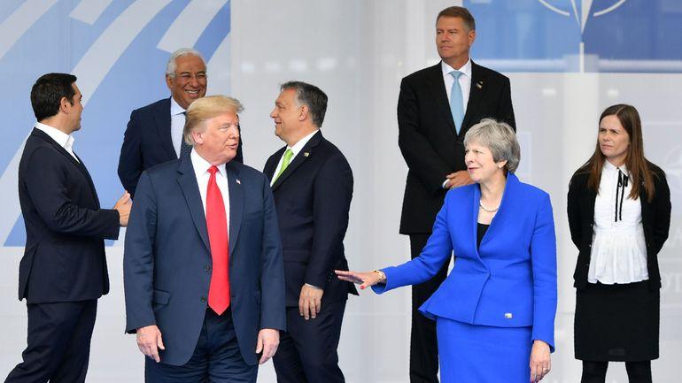 Donald Trump arrive à Londres pour une visite officielle