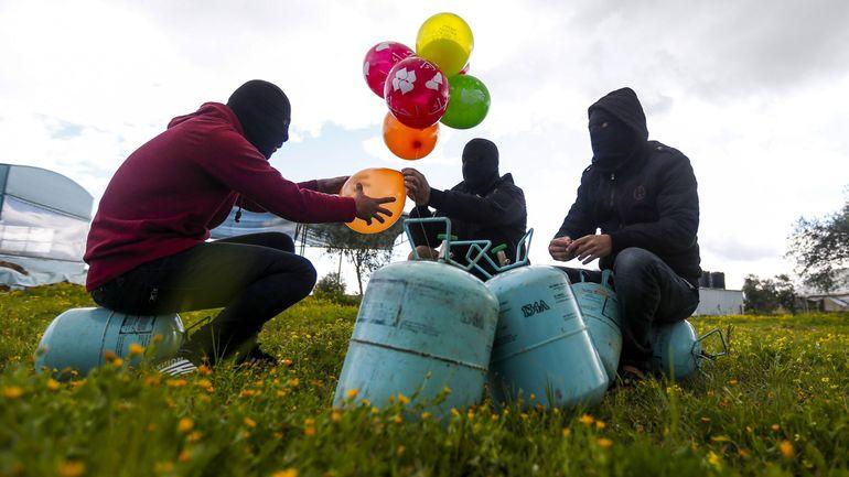 Israël/Palestine: des ballons incendiaires lancés vers Israël réaparraissent dans le ciel de Gaza