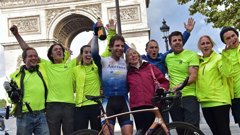 RTBF, Un cycliste britannique fait le tour du monde à vélo en 78 jours