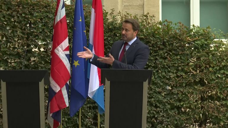 Brexit: dialogue de sourds à Luxembourg entre Xavier Bettel et Boris Johnson