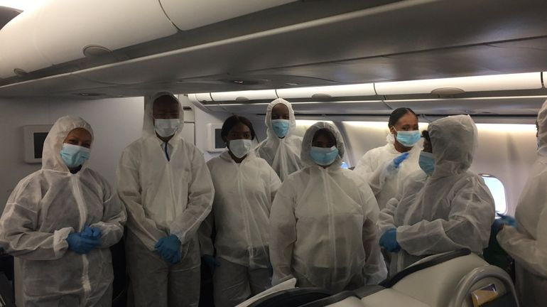 Coronavirus : plus de 300 Belges et Européens rapatriés d'Afrique du sud par un vol spécial de SAA