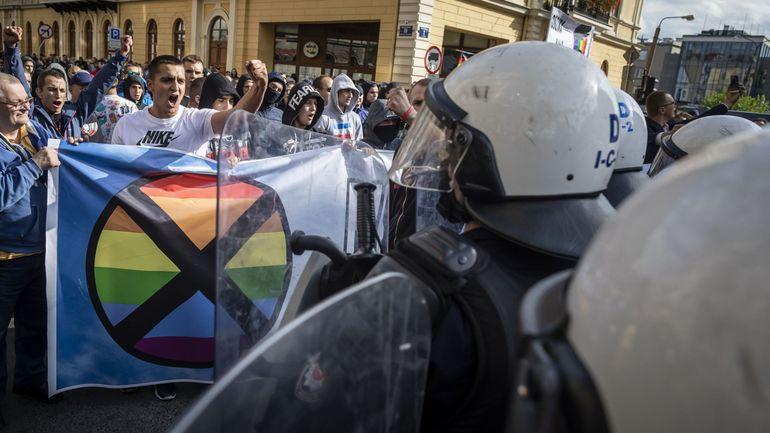Pologne: la Gay Pride face à des contre-manifestants ultranationalistes