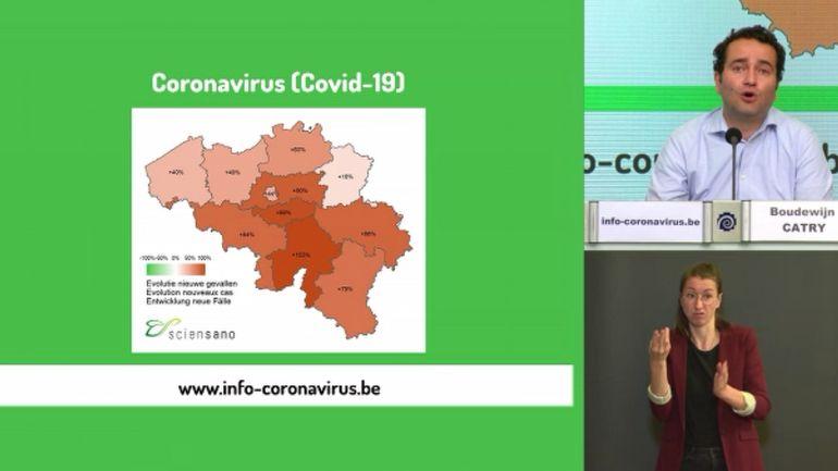Coronavirus en Belgique: le nombre de contaminations et d'hospitalisations continue de grimper