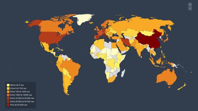 Coronavirus dans le monde et en Europe: les chiffres de l'épidémie avec ces cartes mises à jour quotidiennement