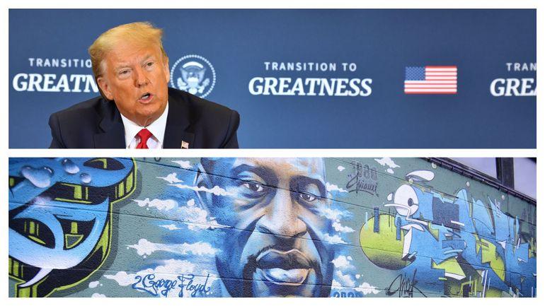"""Baisse du chômage aux USA : selon Donald Trump, c'est """"un grand jour"""" pour George Floyd"""