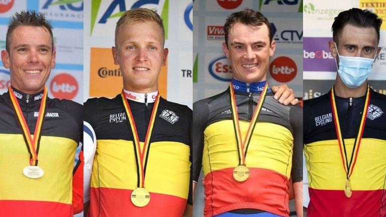 Championnat de Belgique de cyclisme: même un daltonien distingue le maillot noir-jaune-rouge dans un peloton!